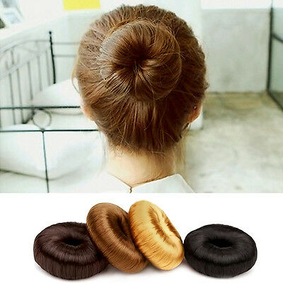 Women Girl's Hairpiece Bun Maker Ring Donut Shaper Synthetic Hair Styling Tool