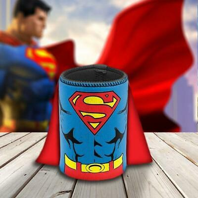 DC Comics Superman Caped Stubby Holder Can Bottle Cooler Collectible