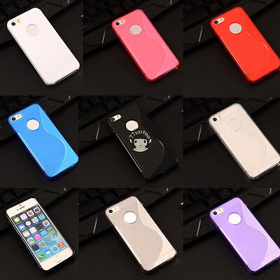 S Line Gel TPU Silicon Case Skin Cover For Apple iPhone XS X 8 7 6 6S Plus SE 5S