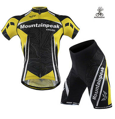 Men's Cycling Bike Short Sleeve Clothing Bicycle Sportwear Suit Jersey Shorts