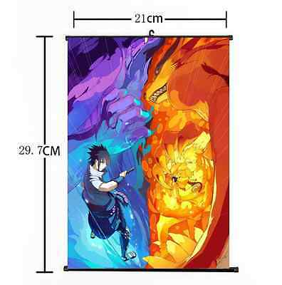 "Hot Japan Anime Naturo Sasuke Home Decor Poster Wall Scroll 8""×12"" 003"