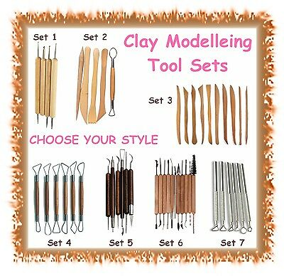 Various sets of clay shaper sculpting tools - CHOOSE STYLE - polymer wood metal