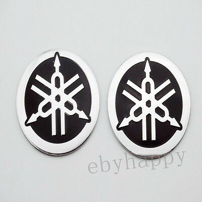 55mm Tuning Fork Tank Faring Emblem Badge Decal Sticker For YAMAHA Motorcycle