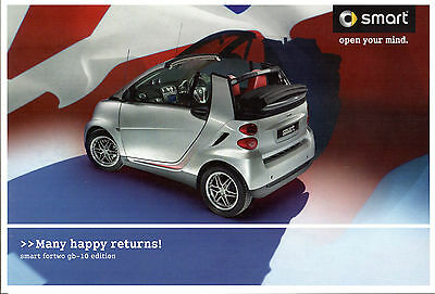 Smart ForTwo GB-10 Limited Edition 2010 UK Market Sales Brochure mhd Diesel