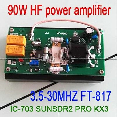 90W HF Power Amplifier For FT-817 IC-703 transceiver PRO KX3 QRP Ham Radio