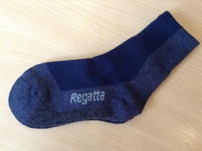 Regatta Boys Kids Coolmax Trek & Trail Walking Hiking Sock Navy Size 10 - 12