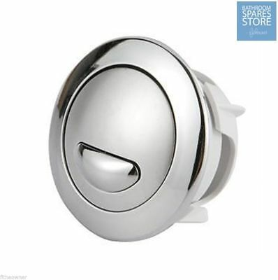 Siamp Optima 50 Toilet Push Button Dual Flush Water Saving Chrome Effect B&Q