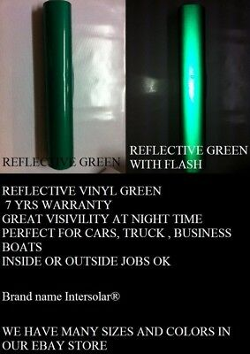 Green Reflective Vinyl Adhesive Cutter Sign  Plotter Hight Reflectivity