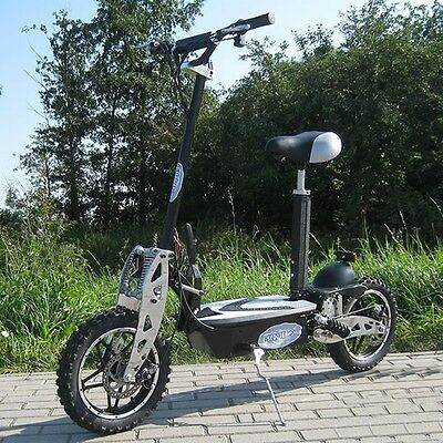 "E-Scooter 1000 Watt 10"" Wheels Electric Scooter Seat Ride Battery"