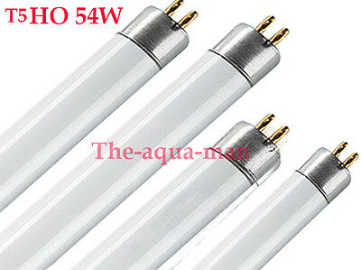 4 X 54W T5 Aquarium Fish Tank Actinic Blue Light Bulbs / Tubes