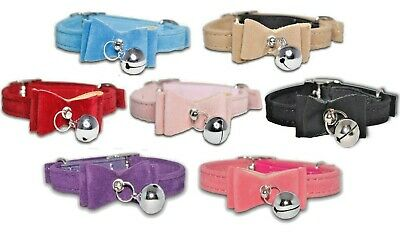 Cat Collars Designer New Coller Cute Safety Elastic Pink Bowtie Bell Collor Blue