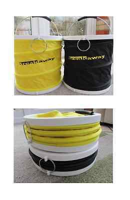 Breakaway Tackle NEW Collapsible Folding Match Bucket with Zipped Lid