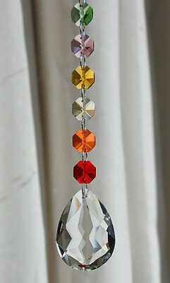 Crystal Suncatcher Chakra window ornament,feng shui,rainbow maker,chandelier