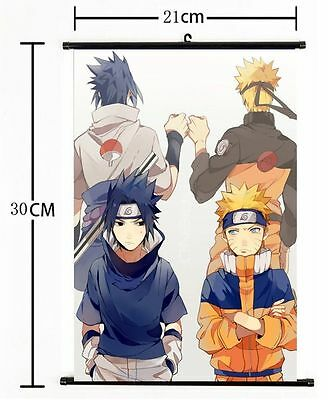 "Hot Japan Anime Naturo Sasuke Home Decor Poster Wall Scroll 8""×12"" 011"