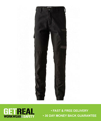 FXD - Men's Black Cuffed Stretch Work Pant Trouser (WP4)