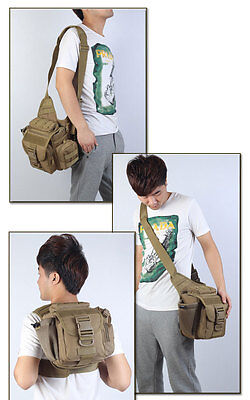 Military Tactical Molle Camo Durable Saddle Hunting Camping Camera Shoulder Bag