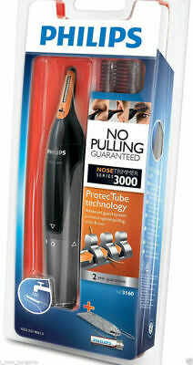 PHILIPS NT3160 Nose Ear Eyebrow Hair Trimmer Shaver Washable No Pullingm No Cut