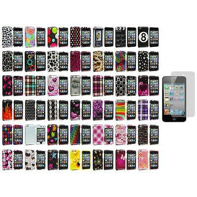 Color Design Hard Snap-On Case Cover+Screen Protector for iPod Touch 4th Gen 4G