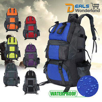 40L/50L Outdoor Backpack Hiking Bag Camping Travel Rucksack Waterproof Bag Pack