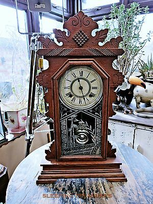 "Antique Ansonia Clock Circa 1894. 8 Day ""derby"", Serviced & Works Beautifully"