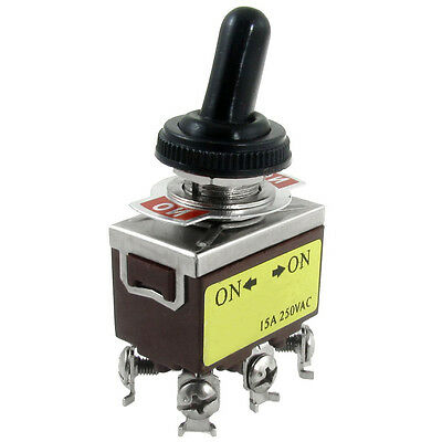 AC 250V 15A on/on 2 Position DPDT Toggle Switch With Waterproof Boot TS