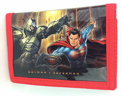 NEW OFFICIAL Batman vs Superman DC Comics Boys Kids Tri-Fold Coin Wallet
