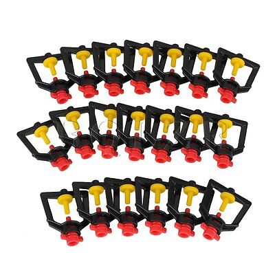 20pcs Lawn Garden Sprinkler Head Plastic Refraction Spray Nozzle Micro Sprinkler