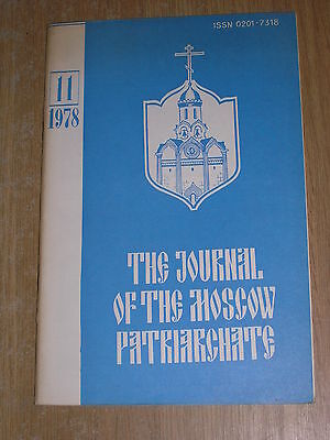 The Journal Of The Moscow Patriarchate 11 / 1978