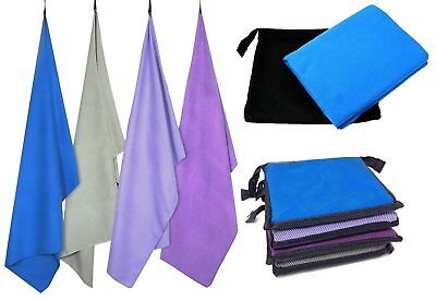 Microfibre Towel with Carry Bag, Sports & Gym Towel, Large Travel Towel