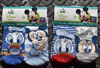 Disney Baby Socks Mickey Mouse Donald Duck Boys Babies Ages 0 - 18 months