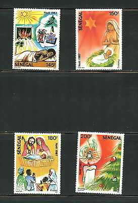 Senegal  1987  #757-60     Christmas    4v.  MNH  G882