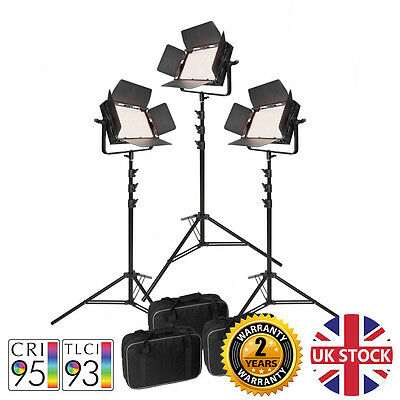 VNIX1000B LED Panel Video Lighting Kit Continuous Studio CRI>90 Green screen