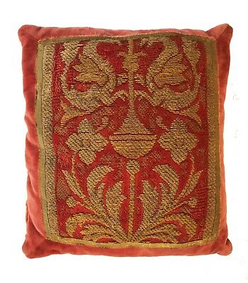 Antique Collectible: 18th Century Italian Embroidery Pillow
