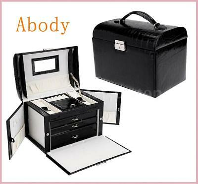 Jewelry Box Storage Case Necklace Ring Display Container Organizer Set X4N9