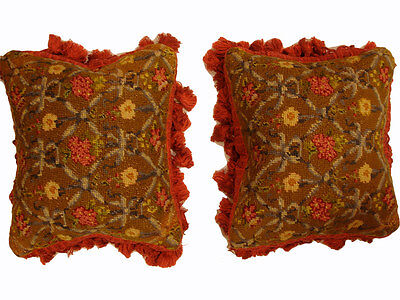 Antique Collectible: 19th Century French Needlepoint (pair)