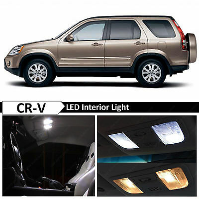 6x White Interior Map Dome Trunk LED Lights Package Fit 2002-2006 Honda CR-V CRV