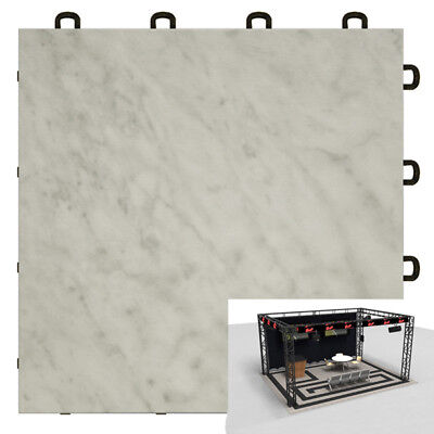 Trade Show Flooring White Marble Style - 10'x10'