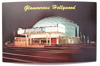 Vtg 1960-1970's Hollywood Pacifics Cinerama (Arc Light) CALIFORNIA POSTCARD