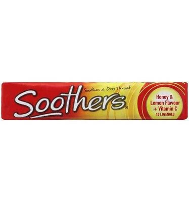Allens Soothers Honey Lemon Flavour - 10 Pack x 36