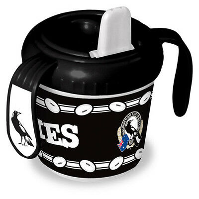 Collingwood Magies AFL Training Sipper Sippy Cup With 2 Easy Grip Handles Gift