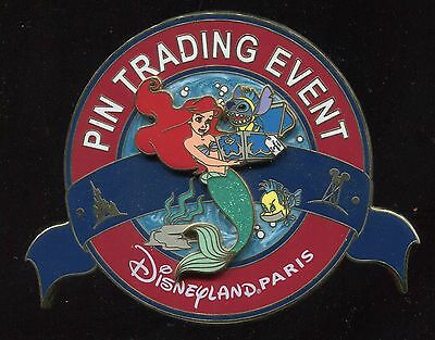 DLP Gift Trading Event Jumbo Ariel Stitch Flounder LE 400 Disney Pin 81719