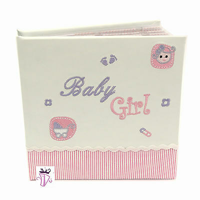 Baby Girl Pink  photo safe 50 slip in photo album gift boxed  baby girl gift