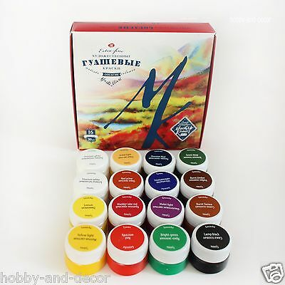 GOUASHE PAINT SET MASTER CLASS 16x20 ml Russian Nevskaya Palitra