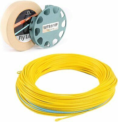 Maxcatch Spey Fly Line WF7/8/9/10F 2 Welded Loops Yellow/Blue Saltwater Fishing