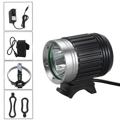 8000Lm 3 Led Xml T6 Lampe Phare Eclairage Frontale Velo Bicyclette Lumiere