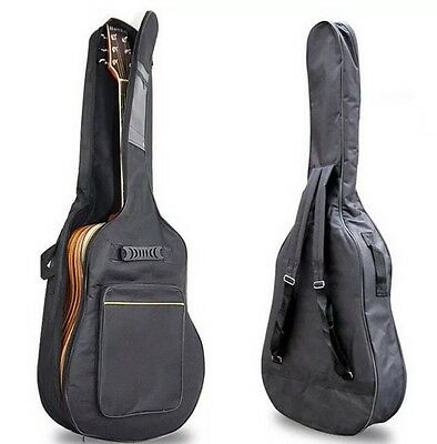 Classic Guitar Bag Acoustic Back Case Electric Full Size Carry Waterproof UK NEW