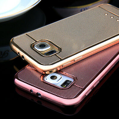 Luxury Rubber Soft Shockproof TPU Phone Case Cover For Samsung Galaxy s6 s7 edge