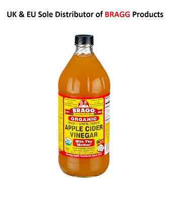 Braggs Organic Apple Cider Vinegar 946 Ml - Free P&p