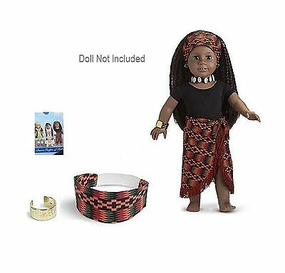 "American Girl ADDY AFRICAN DANCE OUTFIT in BOX W/ NECKLACE for 18"" Dolls NEW"