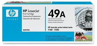 HP TONER CARTRIDGE Q5949A 49A Original Genuine Laserjet 1160 1320 3390 3392 Box